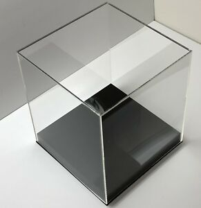 9 X 9 X 9 Acrylic Display Box W Base Display Case Clear Showcases Store