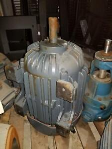 Allis chalmers Gzz Industrial Induction Motor 256u Frame 15 Hp 3500 Rpm