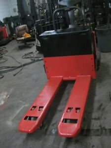 2012 Raymond 8410 Double Electric Pallet Jack 96 Forks 8 000 Lb Capacity