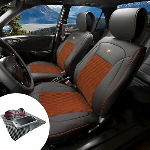 Luxury Seat Covers Pu Leather Front Bucket Front Set W Gift 4 Color Options