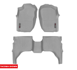 Weathertech Floorliner Mat For Toyota Tacoma Double Cab 2001 2004 Grey