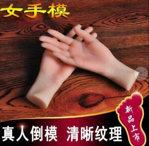 Silicone Lifelike Female Hand Finger Mannequin Display Model Props 1pc Art Zsell