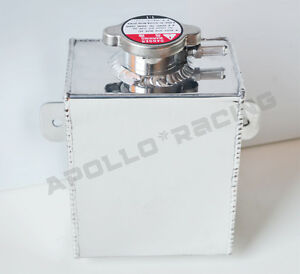 Universal Aluminum Coolant Radiator Overflow Recovery Tank Water Bottle