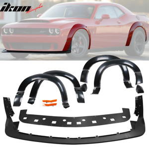 Fits 15 19 Dodge Challenger Front Lip Fender Flare Hellcat To Demon Conversion