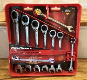 Gearwrench 8 piece Reversible Ratcheting Combination Wrench Set Sae