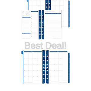 Franklin Covey Classic Monticello Dated Two page per day Planner Refill 5 1