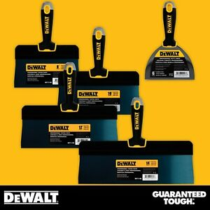 Dewalt Taping Knife Set Big Back Blue Steel 8 10 12 14 W Bonus 6 Joint Knife