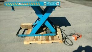 Electric Hydraulic Scissor Lift Table 2 500 Lb Capacity 48 X 40 table Bishamon