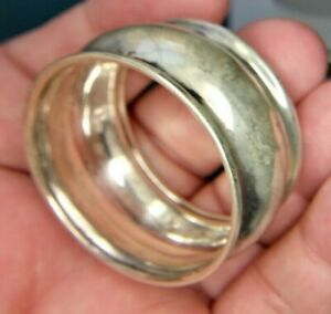 Sterling Silver Plain Round Napkin Ring Engraved Brian 1827