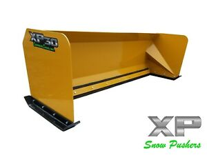 8 Xp30 Snow Pusher Box Skid Steer Bobcat Case Caterpillar Local Pickup
