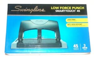 Swingline Smarttouch 45 3 hole Low Force Punch 45 Sheet Capacity