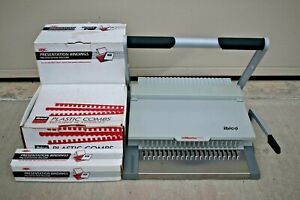 Ibico Ibimaster 300 Manual Paper Punch And Binding Machine With Accessories