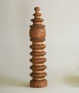 Antique Wood Spool Bed Post Victorian Spool Post Architectural Salvage Finial