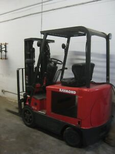 Raymond Electric Forklift 5000 Cap Very Low Hour Meter Wholesale sav