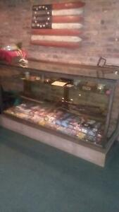 Large Store Display Glass Cabinet W Shelves