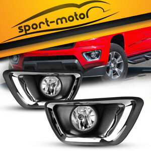 For 2015 2018 Chevy Colorado Clear Bumper Fog Lights Lamps wiring Kit Left right