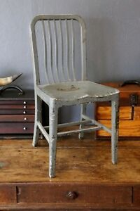Vintage 1950s Remington Rand Aluminum Industrial Desk Chair Dinning Room Loft