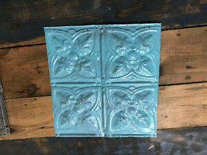 12 X 12 Antique Tin Ceiling Tile Vintage Metal For Craft Projects Decor