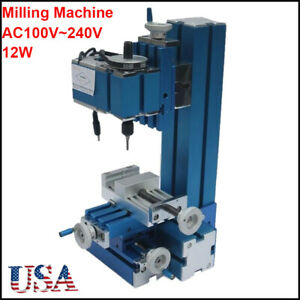 100v 240v Mini Milling Machine Diy Woodworking Metal Aluminum Processing Tool Us