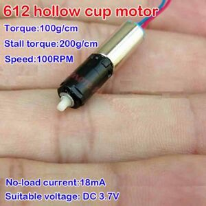 Mini 6mm Coreless Gear Motor Dc 3 7v 100rpm Planetary Gearbox For Robot Car Diy
