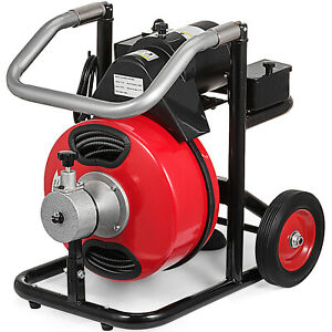100 X 3 8 Commercial Drain Cleaner 390w Pipe Auger Cleaning Machine W cutter