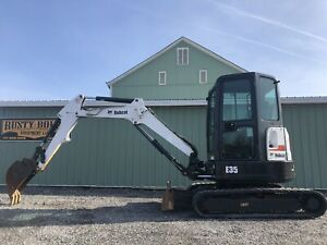 2013 Bobcat E35 M Mini Excavator 1700 Hours Cab Heat ac Low Cost Shipping Rates