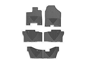 Weathertech All Weather Floor Mats For Honda Pilot 2016 2019 Full Set Black