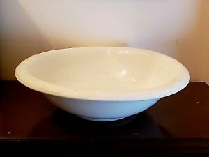 Antique Ironstone Wash Basin Toilet Ware Homer Laughlin East Liverpool Oh 1904