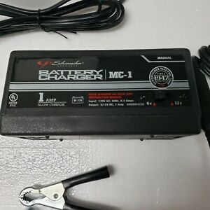 Schumacher Car Motorcycle Battery Charger 6 12 V High Power 1 Amp Trickle