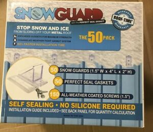Snow Guard 50 Pack Seal Gaskets Screws stop Snow ice Sliding Off Metal Roof