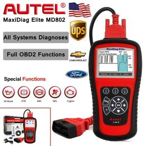 All System Md802 Obd2 Obdii Diagnostic Scan Tool Fault Code Reader Engine Ford