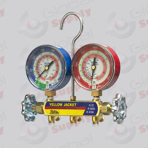 Yellow Jacket 42005 Series 41 Manifold Only 3 1 8 Gauges R22 134a 404a f