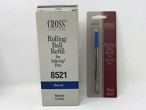 Cross Blue Gel Ink Rolling Ball Refill 12 Pack For Selectip Pens 12 Refills