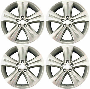 19 Alloy Wheels For 08 12 Toyota Highlander New Set Of 4 Machined And Charcoal