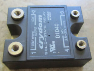 New Crydom D1d40 3 5 32v Input 100v 40a Output Solid State Relay