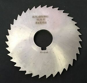 Circular Tool Co 4 X 3 16 X 1 36t Hss Slitting Slotting Saw