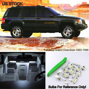 10x Bright White Led Interior Lights Kit For 93 98 Jeep Grand Cherokee Zj Tool
