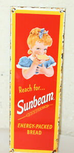 Sunbeam Bread Vintage Style Porcelain Signs Country Stire Advertising Man Cave
