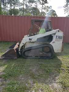 2007 Bobcat T140 Skidsteer Forks And Bucket New Tracks New Filters