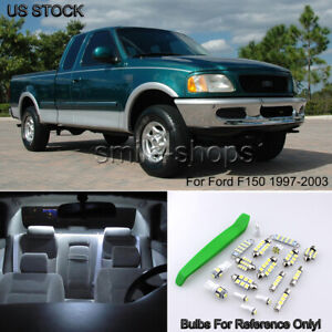 Bright White Car Interior Led Lights Package Bulb Smd For 1997 2003 Ford F150