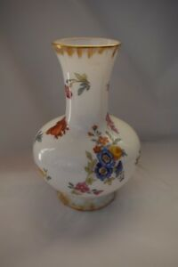 Baccarat French Opaline Glass Bulbous Vase 7 Tall 19th Century Hand Painted