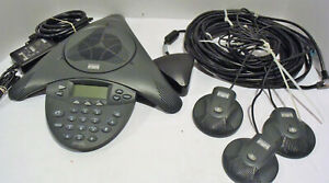 Cisco Cp 7936 Voip Conference Station Phone W Power Adapter External Mics