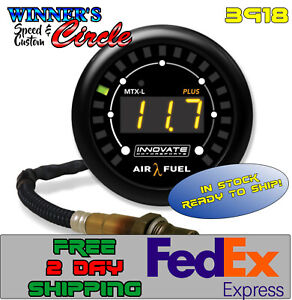 Innovate Mtrspt 3918 Digital A f Ratio Gauge Kit 8 Ft Cable W Free 2 Day Fed ex