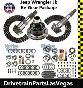 Jeep Wrangler Jk Dana 44 30 Ring Pinion Gear Sets 4 88 Master Kits Grip Pro Posi