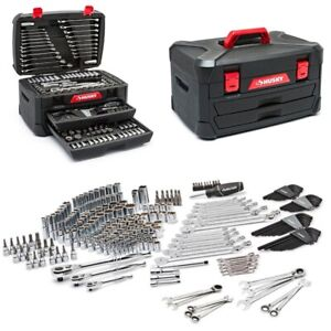 278 Pcs Mechanics Tool Set Universal Sae Metric Ratchet Wrench Socket Kit Case