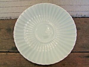 Antique Chinese Celadon Porcelain Flower Blossom Textured Plate Marked