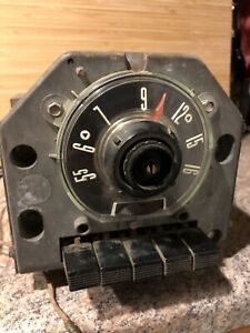Vtg 1940 1950s Fomoco Ford Truck Car Am Vacuum Tube Push Button Radio Round Dial