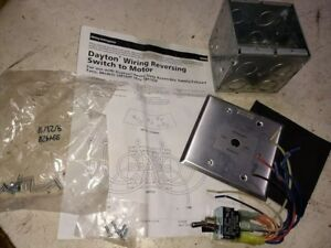 Dayton Wiring Reversing Switch To Motor For Use With Exhaust Fans 5m188f 5m193f