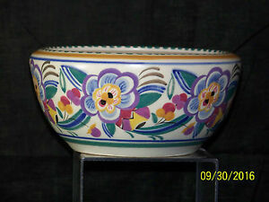 Poole Studio Art Pottery Eileen Prangnell Decor C1924 37 Art Deco Large Bowl