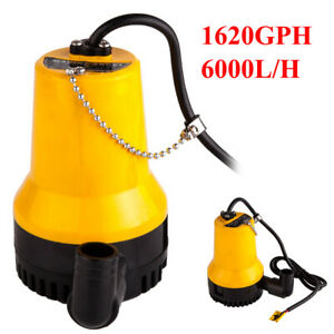 Submersible Water Pump Clean Clear Dirty Pool Pond Flood 12v 1620gph 6000l h New